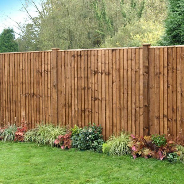 Close Board Feather Edge Wood Fence Panels 6ft 5ft 4ft